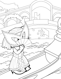 venetian belle coloring page handipoints
