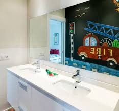 kids bathroom design modern house in mallorca with light and modern interior