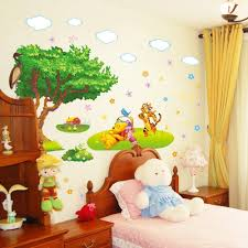 extra large winnie the pooh wall stickers wall murals you ll love joyous treewingswallstickers as wells wild flower fairy plant personalised nursery wall sticker winnie