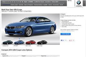 bmw build your car 2014 bmw 4 series build your own feature available