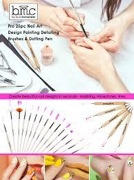 amazon com bmc 20pc nail art design painting brushes u0026 dotting