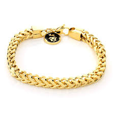 stainless steel gold bracelet images The 6mm gold stainless steel franco bracelet hip hop jewelry jpeg