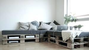 canapé avec palette canape lit palette canapac palettes industriel salon fabriquer t