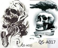 2pcs skull cool tough temp stickers and