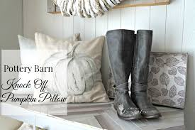 pottery barn painted pumpkin pillow pottery barn inspired