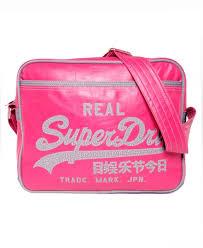 alumni bags mens alumni bag in pink charcoal superdry