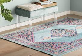 bungalow rose babita blue pink area rug u0026 reviews wayfair