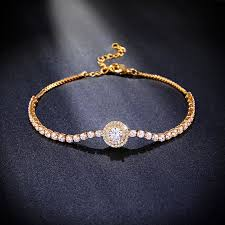 gold chain bracelet with charms images Brand new gold bracelet charms pave cubic zirconia zircon gold jpg