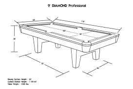 9 foot pool table dimensions regulation 9 foot pool table dimensions pool design