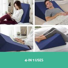 best bed wedge pillow bed mattress wedge for acid reflux support for reading in bed