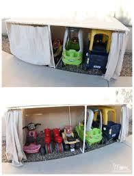 Backyard Kids Toys by Kids Ride On Toys Backyard Storage Ideas Toy Car Storage Ideas