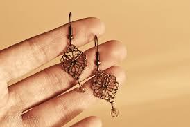 home made earrings simply vintagegirl a christmas 2 earrings