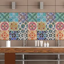 kitchen paving pattern tiles stickers set of 4 tile decals art il