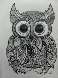 Owl Lovers by Zentangle Owl By T Katesart Deviantart Com On Deviantart Owl