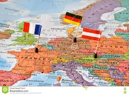 European Countries Map Map Of The Western Europe Countries Germany France Austria Stock