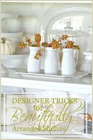 designer tricks for beautifully arranged shelves stonegable