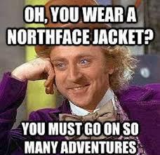 Meme Jacket - north face jacket funny willy wonka meme