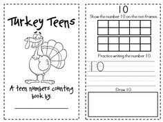 here s a turkey themed missing number activity a recording sheet