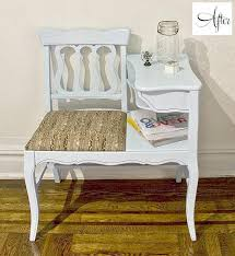 Vintage Telephone Bench Before And After Breanne And Dan U0027s Telephone Bench U2013 Design Sponge