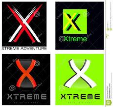 xtreme or letter x company logo set stock illustration image