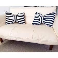coussins de canapé 3d bow coussins créatifs rayures coussins de canapé noir et blanc