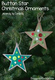 button ornament craft for inspired by corduroy
