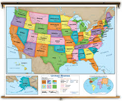 maps of united state united states classroom maps indvidually mounted on rollers