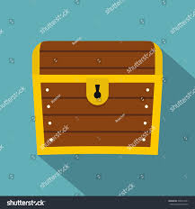 chest icon flat illustration chest vector stock vector 598241051