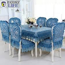 Chair Cover Wholesale Kitchen Tablecloth Picture More Detailed Picture About Blue