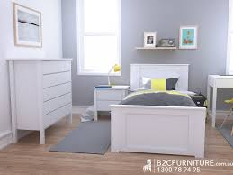 Single Bed Frame Modern White BC Furniture - Childrens bedroom furniture melbourne