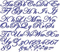 edwardian embroidery font lettering design