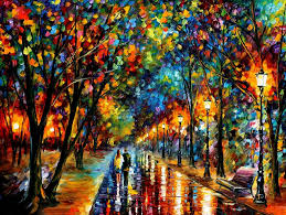 Colorful Painting by Online Buy Wholesale Couple Walking In Rain Painting From China