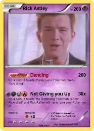 Rick Astley Meme - pokémon rick astley 126 126 dancing my pokemon card