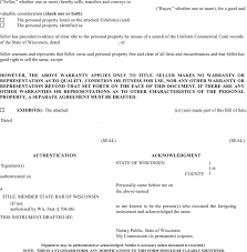 download wisconsin personal property bill of sale form for free