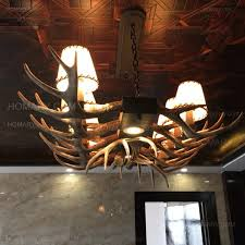 Linear Chandelier With Shade Faux Resin Antler Parchment Bell Shades Island Pool Table 12