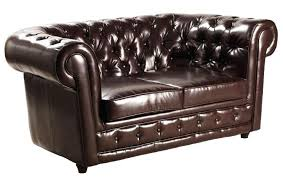 canap cuir capitonn canape capitonne cuir canapa chesterfield deluxe 2 places marron