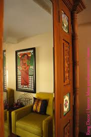 indian traditional home decor decor vintage furniture with side table and wall art also