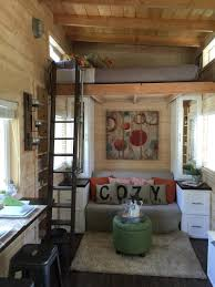 a tiny house on wheels with a total of 270 square feet including