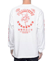 primitive x huy fong white long sleeve t shirt white tee shirts
