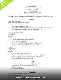 internship resume templates creative resume internship experience sle internship resume