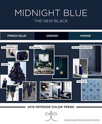interior color trends 2018 indigo blue midnight blue navy