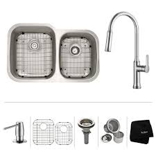 40 Inch Kitchen Sink Kraus All In One Undermount Stainless Steel 32 In Bowl