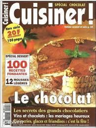 cuisiner magazine 100 recettes chocolat hors série n 11