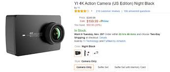 amazon 60 in 4k black friday deal alert the yi 4k action camera is 50 off 200 at amazon