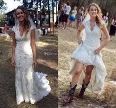 country wedding dresses discount 2018 vintage country wedding dresses v neck cap sleeves