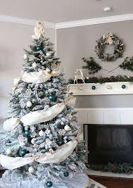 26 best flocked tree décor ideas digsdigs