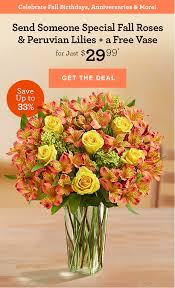flower delivery free shipping 1 800 flowers just 29 99 fall roses peruvian lilies a