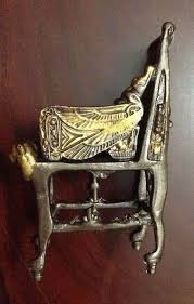 Egyptian Chair King Tut Egyptian Throne Chair Dark Oxidized Bronze U0026 Gold Made