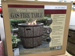 global outdoors fire table global outdoors wine barrel gas fire table at costco outdoor