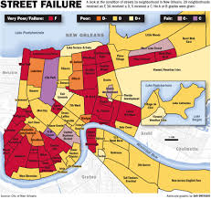 Districts Of New Orleans Map by How Bad Are New Orleans U0027 Streets Fixes Require Billions Study